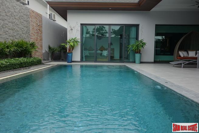 New Modern Three Bedroom Cherng Talay House for Sale With Pool and Smart Home Features