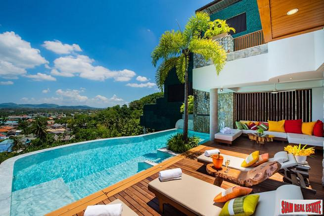 Spectacular Panoramic Sea Views from this Four Bedroom Bang Tao Pool Villa
