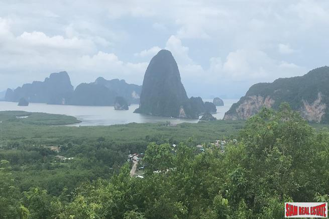 Stunning Views not to be Duplicated from this Large Land Plot Overlooking Phang Nga Bay