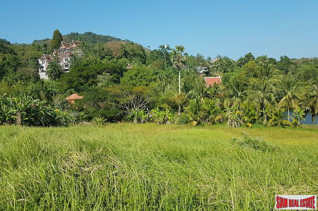 Nine Rai Lake Frontage Land Plot for Sale Near Exclusive Layan Residential Estate