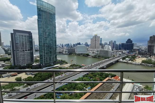 Baan Sathorn Chaophraya | Exceptional River Views from this Two Bedroom Condo for Sale in Saphan Taksin