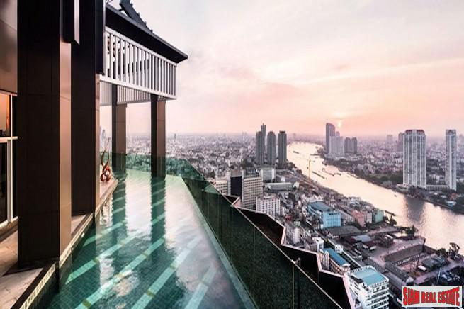 Rhythm Sathorn | Rare Corner Two Bedroom Condo for Sale with 180 degree Views of the River