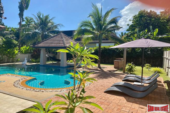 Four Bedroom Pool Villa with Large Outdoor Living Area with Gardens and BBQ