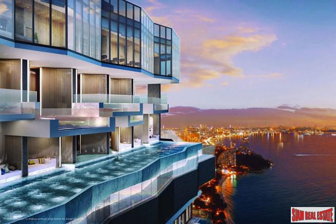 New Wongamat Sea View Luxury High Rise Development with Fantastic Amenities - One Bedroom