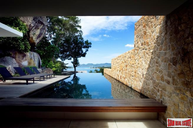 Ultimate Luxury 3 Bed Sea View Villa in Exclusive Estate Community at Choeng Mon Beach, Koh Samui
