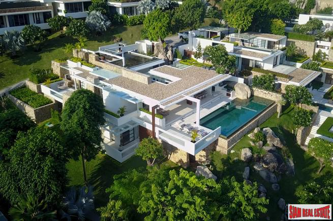 Ultimate Luxury 4 Bed Sea View Villa in Exclusive Estate Community at Choeng Mon Beach, Koh Samui