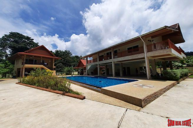 Two Houses, Both Two Storey, for Sale on Large 2,202 sqm Land Plot in a Peaceful Area of Khao Lak