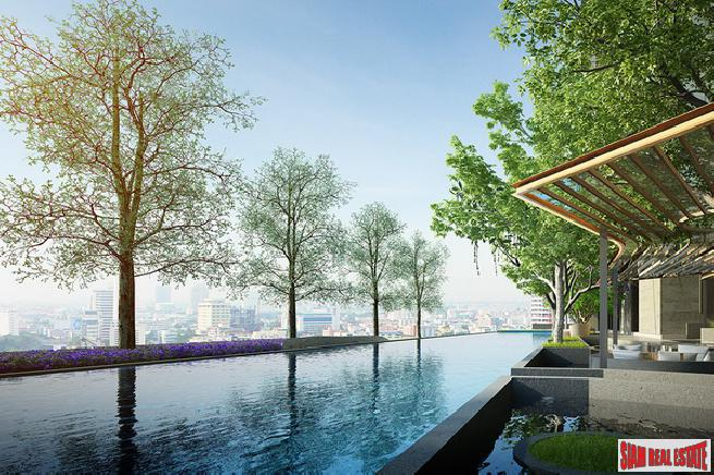Newly Completed High-Rise Green Condo with 2 Rai of Gardens by Luxury Developers at Sukhumvit 101/1 - 2 Bed Units