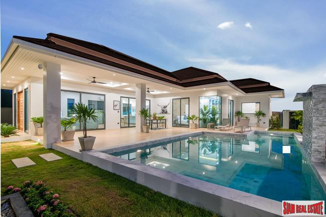 New Project of Award Winning Luxury Custom Green Pool Villas by Experienced Developer at Hua Hin
