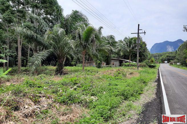 Over One Rai of Land for Sale Next to a Road in a Peaceful Quiet Nong Thaley  Area