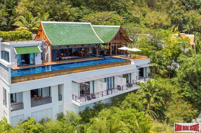 Malaiwana | Sea View Four Bedroom Villa for Sale in Naithon Beach on Phuket's West Coast