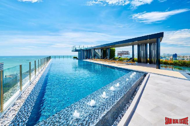 1 Bed Condo on High Floor at The Base Central Pattaya | Sea View and Central Location