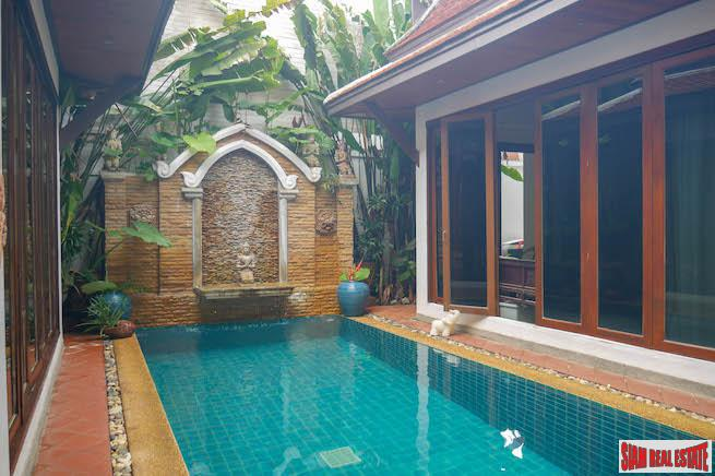 Beautiful Four Bedroom Thai-Style Courtyard Home with Private Pool for Sale in Kamala