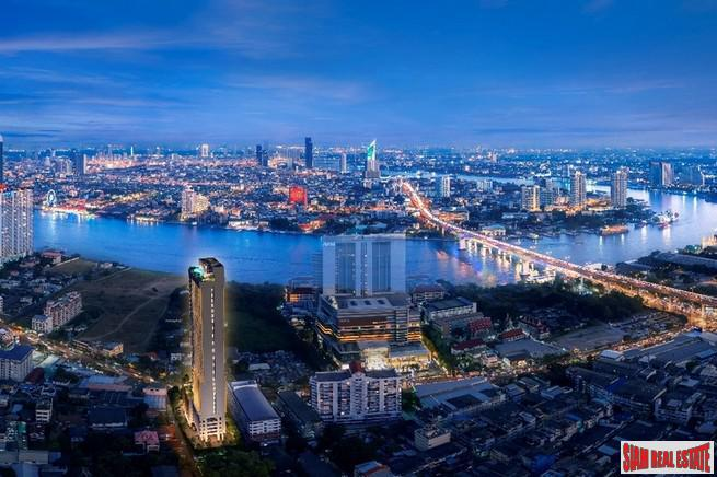 New Launch of Riverside High-Rise Condo at Charoennnakhon - 1 Bed Units - Promotional Prices and Free Common Area Fee for 4 Years only 15% Down-Payment!
