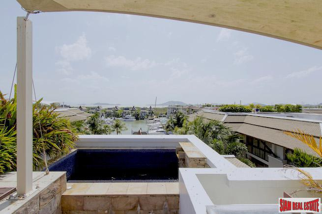 Royal Phuket Marina | 360 Degree View from this Two Bedroom Penthouse for Sale with Private Roof Deck & Jacuzzi