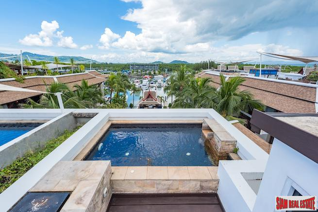 Royal Phuket Marina |Three Bedroom Penthouse for Sale with 360 degree View Private Roof Deck & Jacuzzi