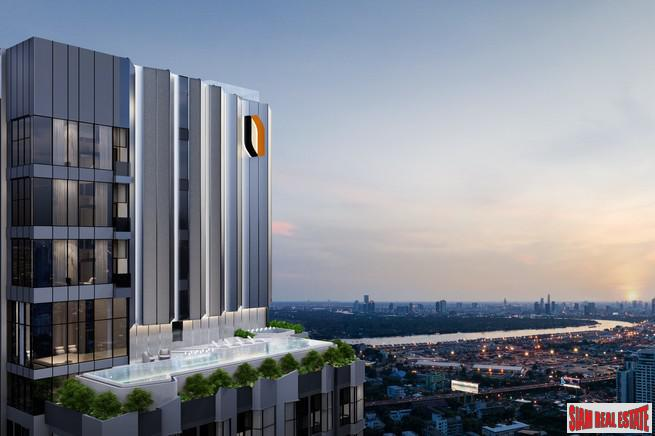 New High-Rise of Loft Duplex Smart Home Condos by BTS Phra Khanong at Rama 4 Road with City and Chao Phraya River Views - 2 Bed Units