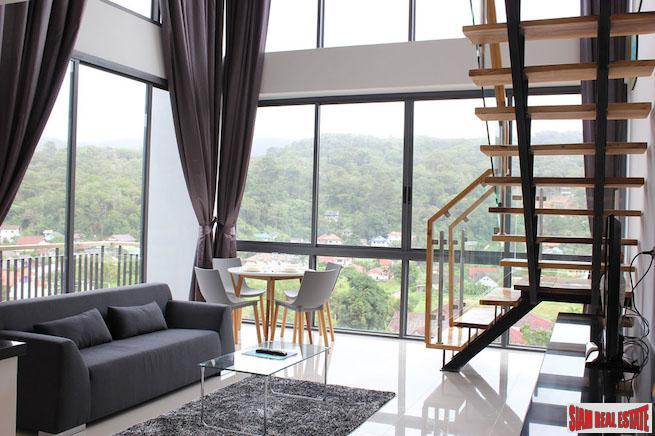 Icon Park Condominium | Two Bedroom Kamala Duplex with Large Open Windows and Green Views
