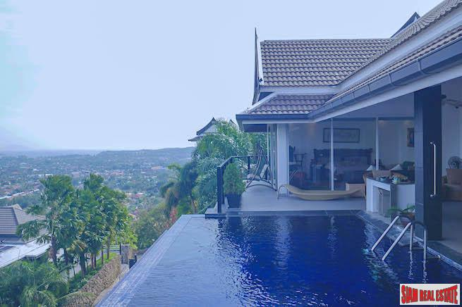 Baan Sawan | Amazing Panoramic Sea Views from this Four Bedroom Pool Villa for Sale in Rawai