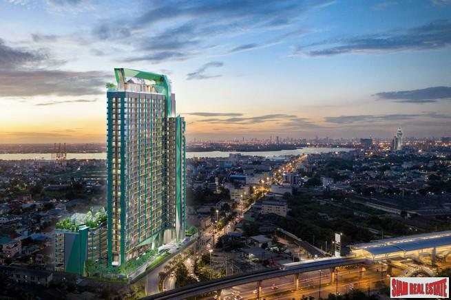 New High Rise with Sea and River Views near the City and the Beach at Samut Prakan, Bangkok - 1 Bed 22 Sqm Units