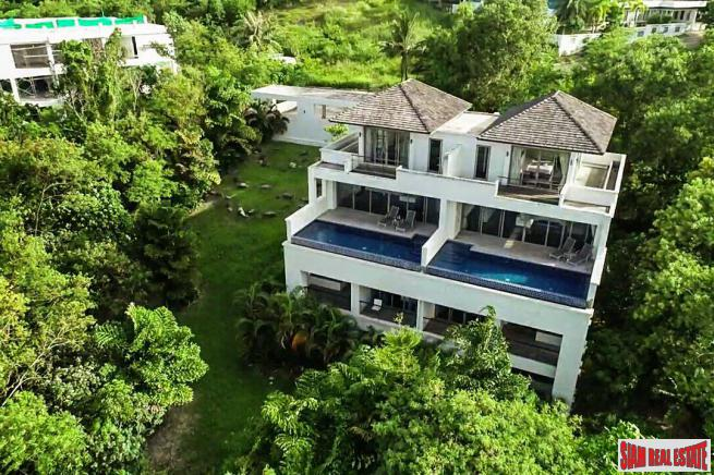 Large Duplex with Five Bedrooms each Unit and Roof Top Terrace for Sale near Phuket Town