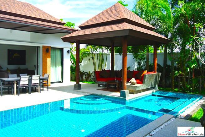 Three Bedroom Thai-Balinese Style Luxury Pool Villa  for Sale in Cherng Talay