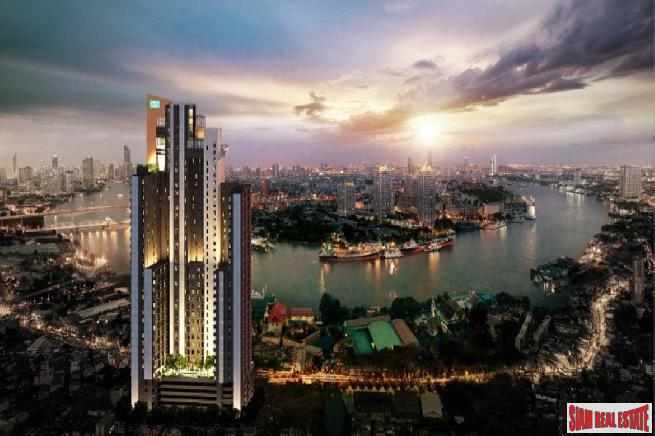 Newly Completed High-Rise Riverside Fully Furnished Condos at Charoen Nakhon, Bangkok - 2 Bed Units