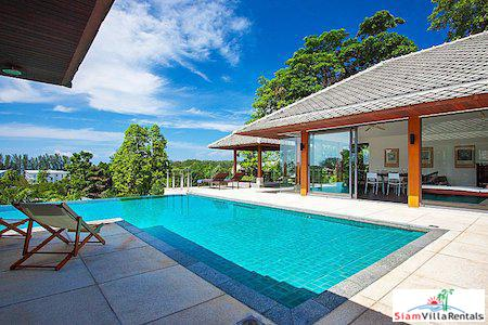 Contemporary 4 Bedroom Pool Villa with Sea View for Rent in Rawai, Phuket