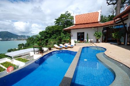 Magnificent Modern Villa with Sea-Views, Private Swimming Pool and 5 Bedrooms For Rent at Patong, Phuket
