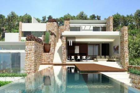 Modern Designed 4 Bedroom Houses For Sale, Swimming Pool and Sea-Views at Chaweng, Koh Samui