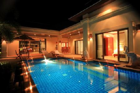 Newly Built 1 to 2 Bedroom Modern Thai Houses For Sale with Swimming Pool at Nai Harn, Phuket