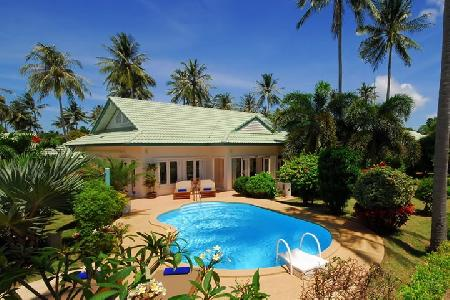 Beach Village House - Fully Furnished 3 Bedroom House with a Private Swimming Pool and Jacuzzi For Holiday Rent at Lamai, Koh Samui