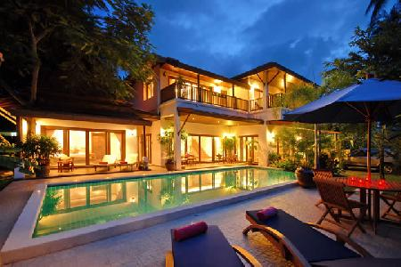 Baan Jasmine - Luxury 3 Bedroom Beach-side Villa with Private Swimming Pool For Holiday Rent at Lamai, Koh Samui