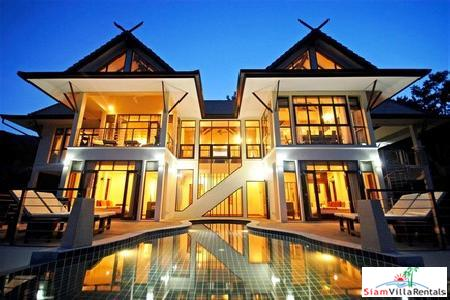 Luxury 5 Bedroom House with Sea-Views and Swimming Pool For Holiday Rental at Bang Po, Koh Samui