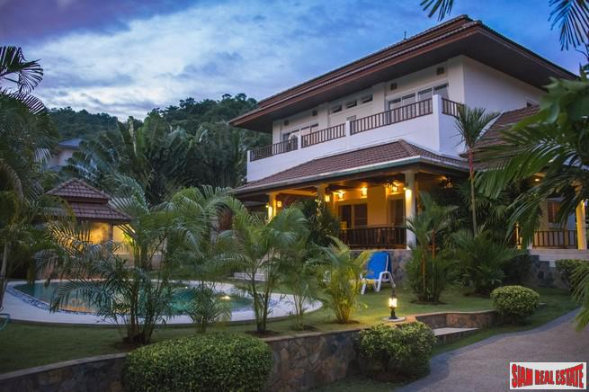 Furnished House with Distant Sea-Views and a Private Swimming Pool For Sale at Rawai, Phuket