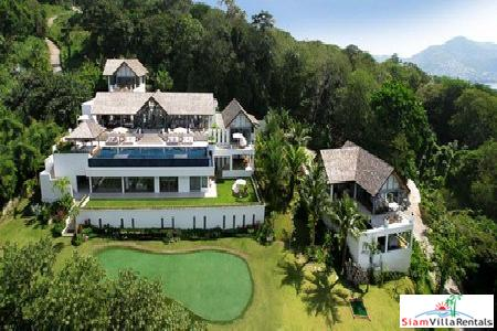 Luxury Six Bedroom Sea-View House Available for Holiday Rental at Surin