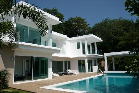 Brand New Modern House within a Development with Sea-Views and Private Pool For Rent at Kata, Phuket