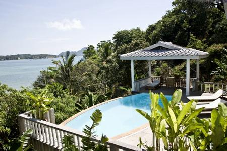 Majestic Sea View Three Bedroom Villa for Rent in Rawai (Available only April-October every year)