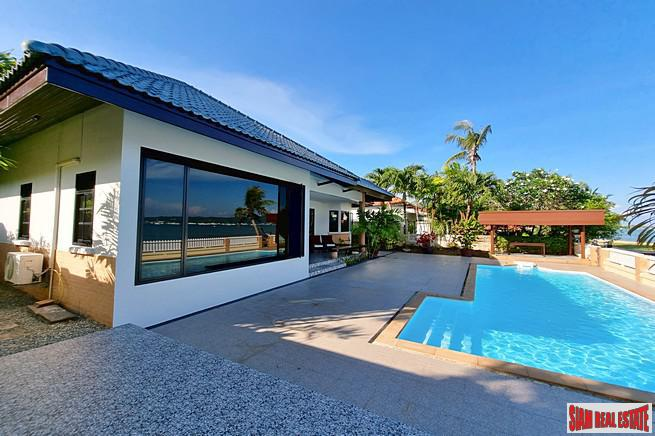Three Bedroom Beachfront House with Amazing Sea-Views for Rent at Chalong