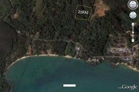 21 Rai of Picturesque Prime Sea-View Land for Sale at Koh Sirey
