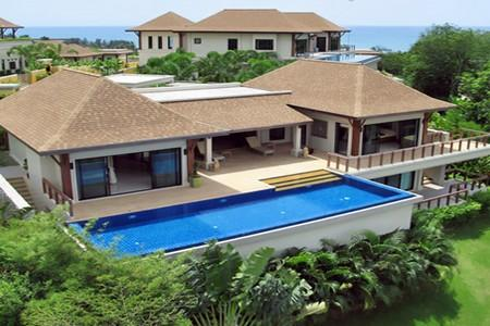 Three Bedroom Pool Villa with Great Views Overlooking the Sea at Cape Panwa For Holiday Rent