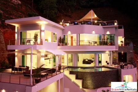Contemporary Four Bedroom Home with Sea-views at Bang Tao For Holiday Rental