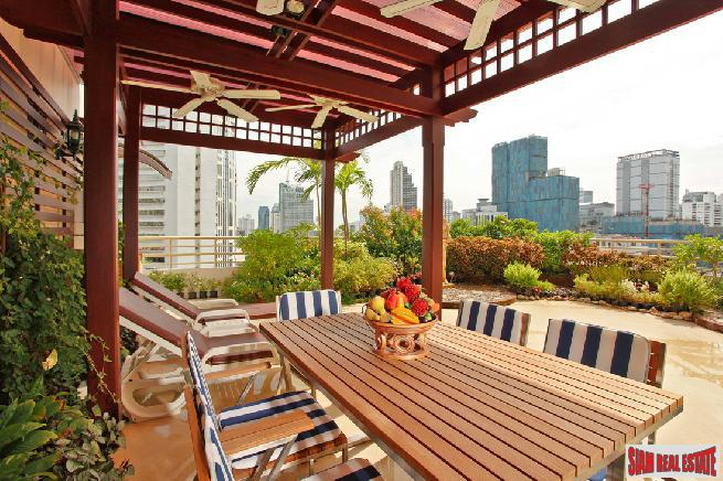 Impressive 3 Bedroom Sukhumvit Condo with Scenic Roof Garden