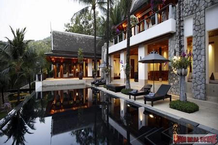 Oceanfront 6 Bedroom Villa with Private Beach in Surin