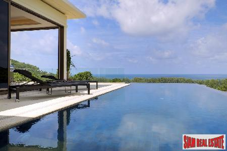 Stunning New 3-4 Bedroom Pool Villas with Sea Views in Nai Thon