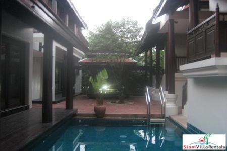 Baan Sukjai | Four Bedroom Thai Traditional House with in-house Swimming Pool near Thonglor BTS.