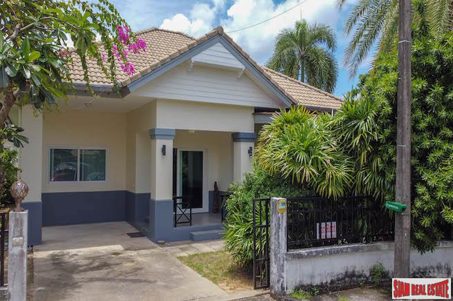 Land and House | Well Kept Three Bedroom House with Large Garden for Rent in Chalong