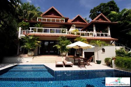 Beautiful Thai Style Three Bedroom Pool Villa with Sea View in Kata