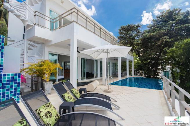 Stunning 5 Bedroom Holiday Rental with Sea Views & Infinity Pool in Kata, Phuket
