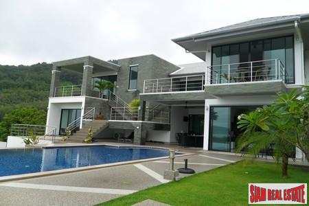 Cool, Modern Six Bedroom Home with Pool and Sea Views in Rawai